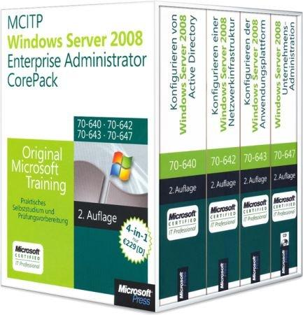 MCITP/MCSA Windows Server 2008 Enterprise Administrator CorePack - Original Microsoft Training für # 70-640, 70-642, 70-643, 70-647 / Autor:  Holme / Northrup / Mackin / McLean / Ruest / Desai, 978-3-86645-995-3