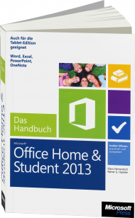 Microsoft Office Home and Student 2013 - Das Handbuch, Best.Nr. MS-5155, € 24,90