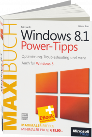 Microsoft Windows 8.1 Power-Tipps - Das Maxibuch, Best.Nr. MSE-5236, € 15,90