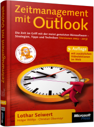 Zeitmanagement mit Microsoft Office Outlook, ISBN: 978-3-84833-052-2, Best.Nr. MSE-5835, erschienen 04/2013, € 15,90