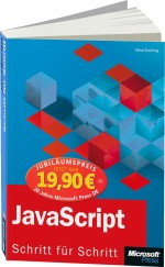 Jubil�umsausgabe: JavaScript - Schritt f�r Schritt, Best.Nr. MS-5596, € 19,90