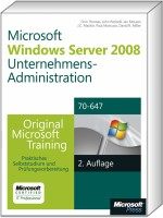 Windows Server 2008 R2 Unternehmens-Administration MCITP, ISBN: 978-3-86645-718-8, Best.Nr. MSE-5977, erschienen 01/2012, € 63,20
